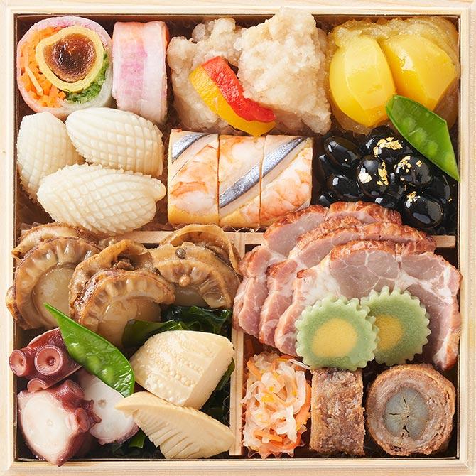 オイシックスのおせち料理『福寿』お得な早割で1,100円割引!二の重のお品書き