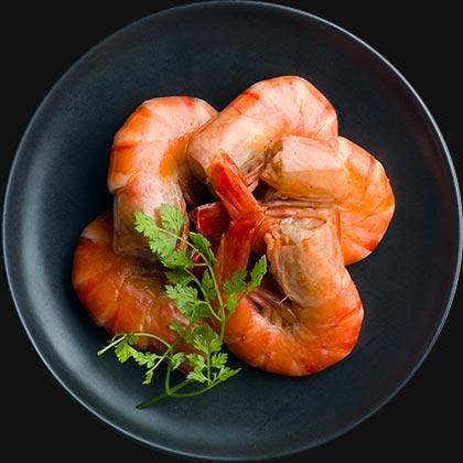 オイシックスのおせち料理!酒好き一人暮らし向けのオードブルおせち『DEAN&DELUCA』海老のパプリカマリネ