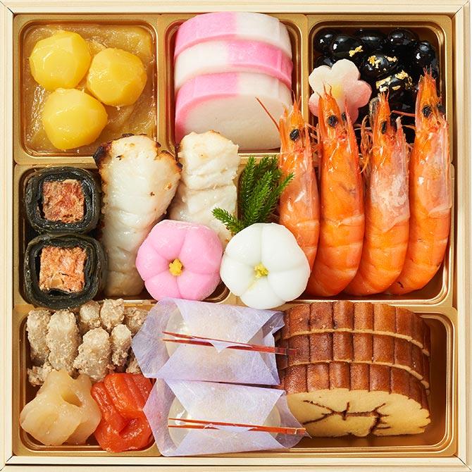 2022年オイシックスのおせち料理『上慶梅』お得な早割で3,000円割引!一の重のお品書き