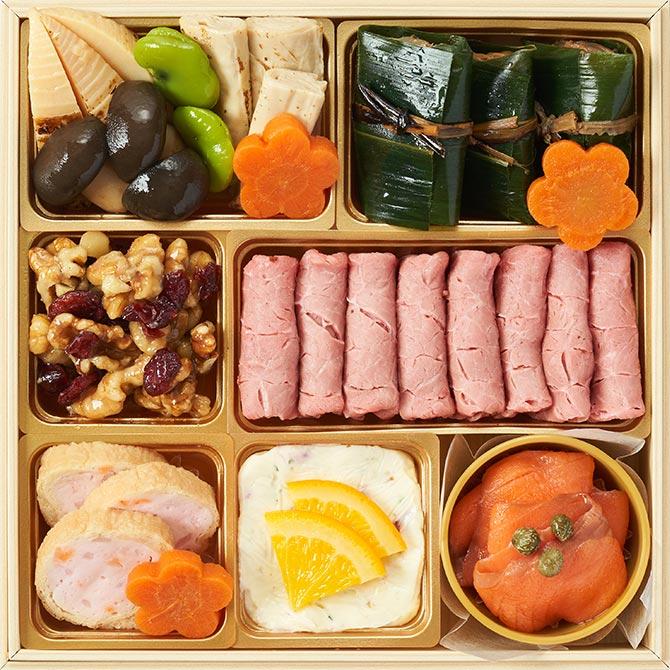 2022年オイシックスのおせち料理『上慶梅』お得な早割で3,000円割引!二の重のお品書き